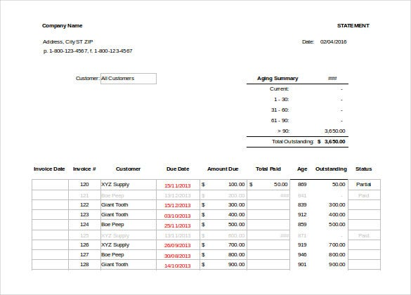 invoice tracker template for excel