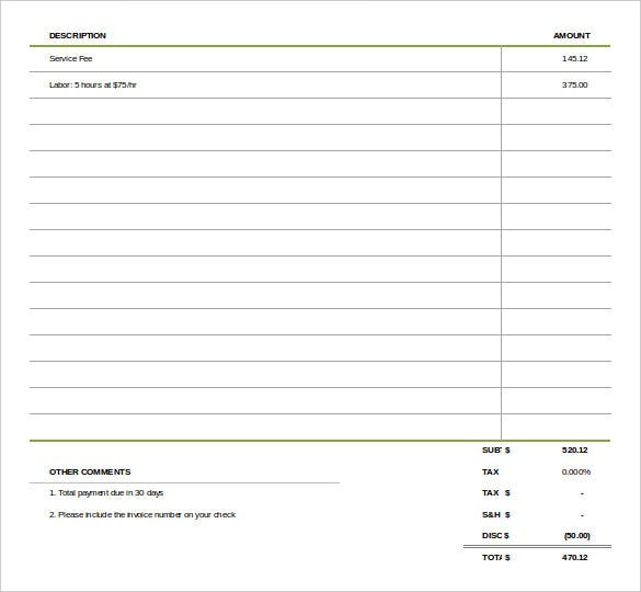 simple invoice template1