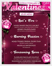 Valentines Day Menu Template1