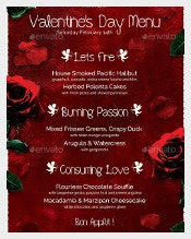 Valentines Day Menu Template2