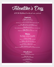 Valentines Day Menu Template3