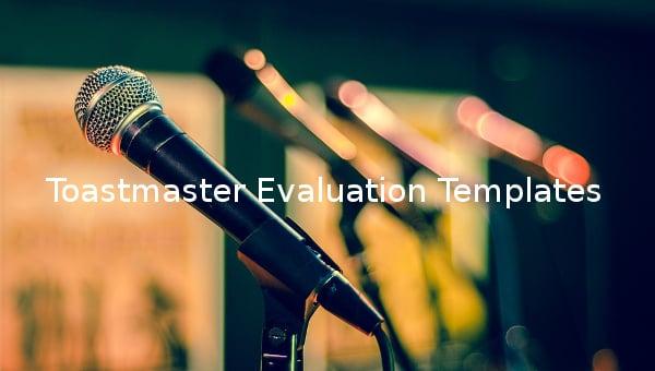toastmaster evaluation templates