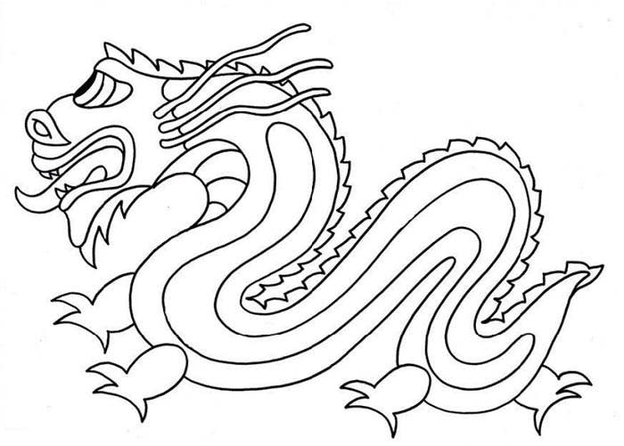 dragon printout coloring page