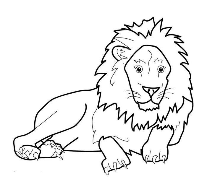 lion template coloring page