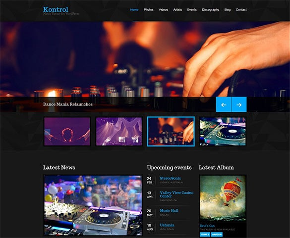 Template Wordpress Radio Free - Wordpress Themes Gala, The Big Archive