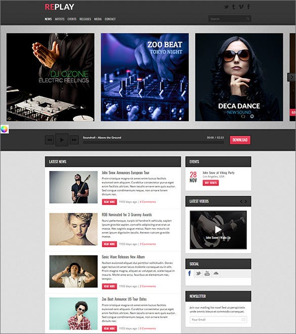 responsive radio wordpress theme