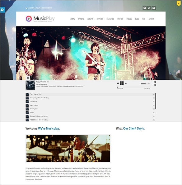 wordpress radtio stream website template