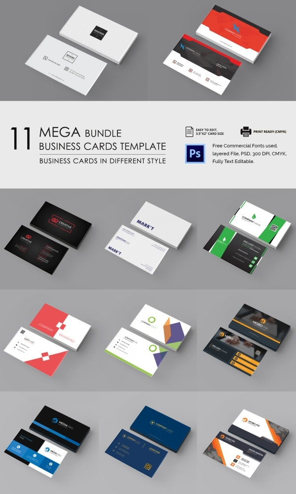 business_cards bundle mockup