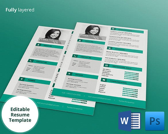 free editable resume templates for word creative psd architecture