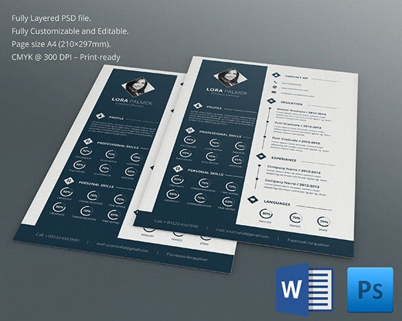 Psd resume template 51 free samples examples format download creative director resume cv use this creative psd resume template yelopaper