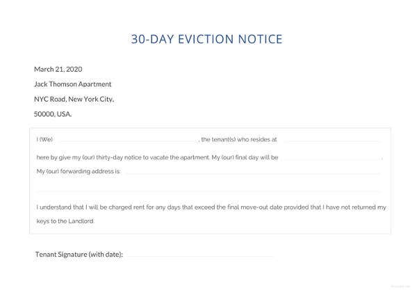 renters 30 day notice template