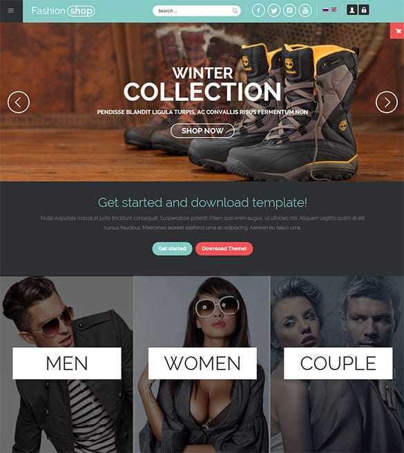 responsive fashion joomla templates