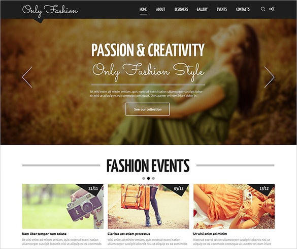 responsive joomla blog template for fashion