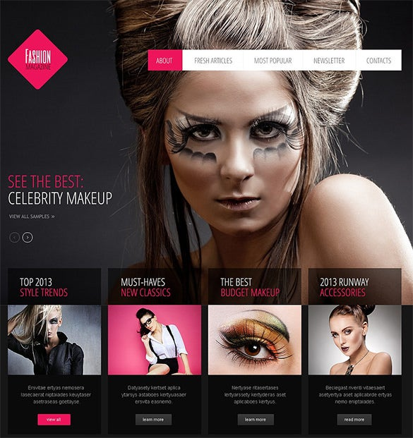 bootstrap joomla template for fashion
