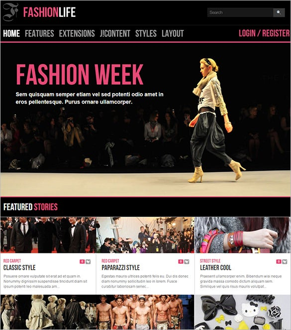 stylish joomla fashion theme
