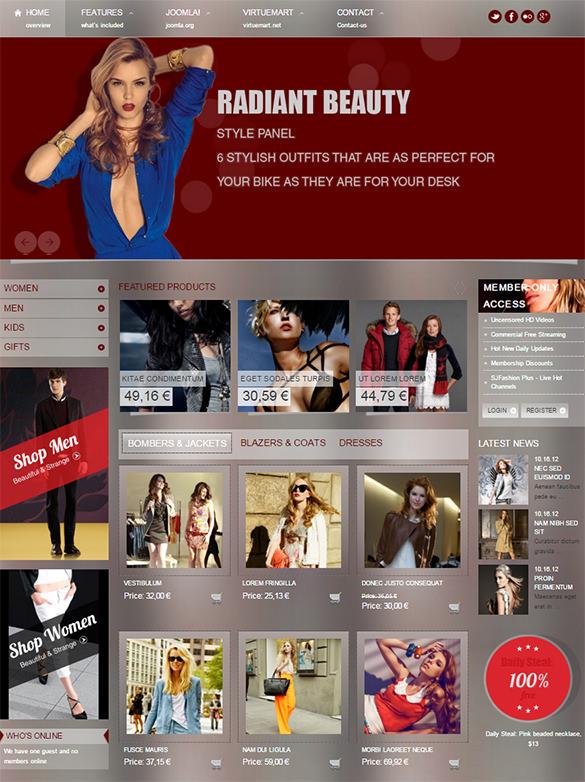 responsive joomla template for fashion store