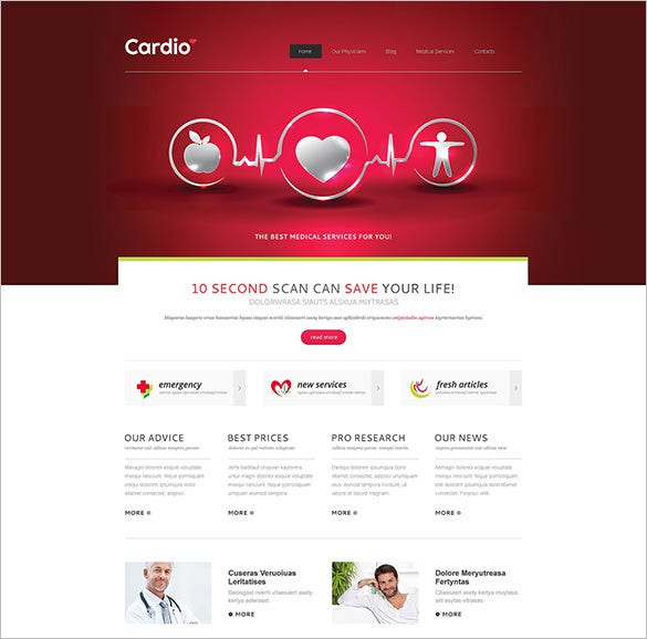 joomla 3 template for medical service