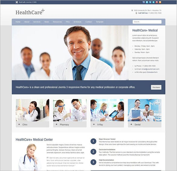 responsive joomla template for healthcare