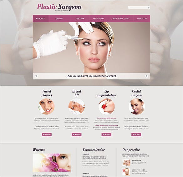 premium responsive joomla template for plastic surgery