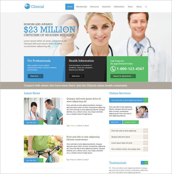 medical health joomla responsive template