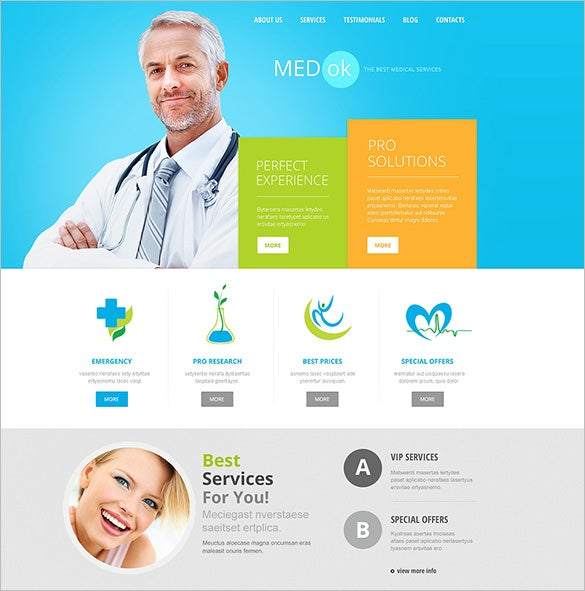 joomla website template for medical