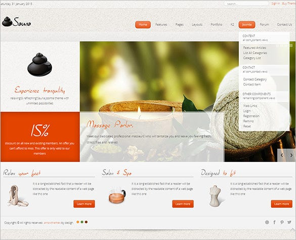 responsive joomla template for health beauty