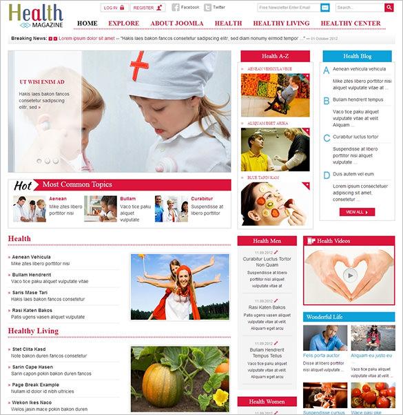 responsive joomla template for health