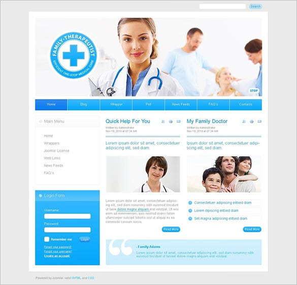 medical responsive joomla theme
