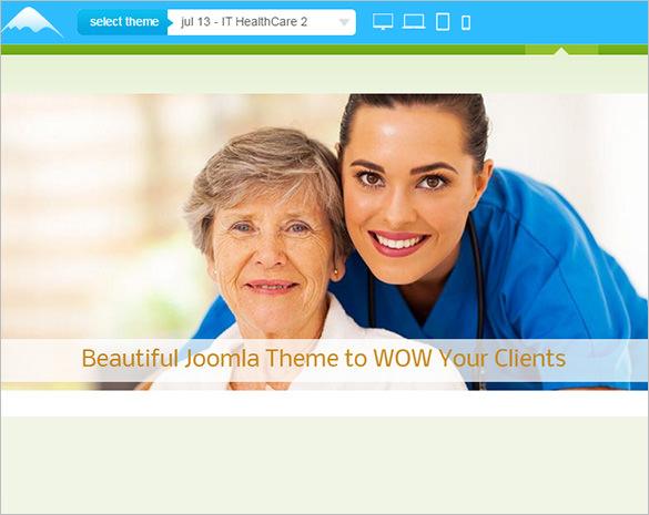 responsive healthcare joomla template