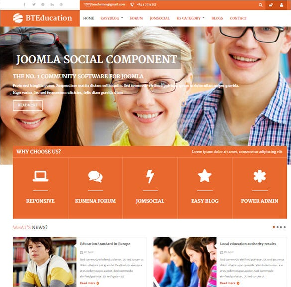 joomla responsive template for education