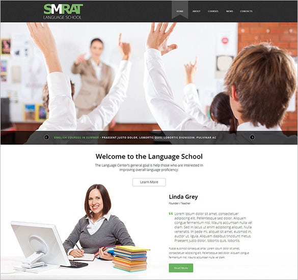 teaching joomla website template