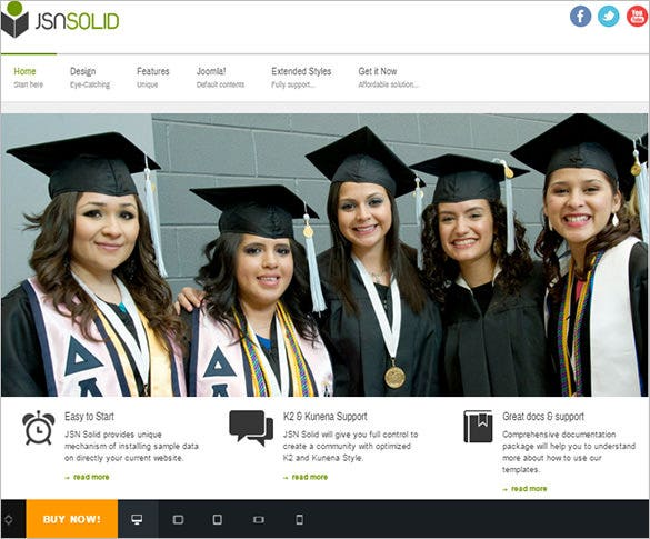 fully responsive premium joomla education template
