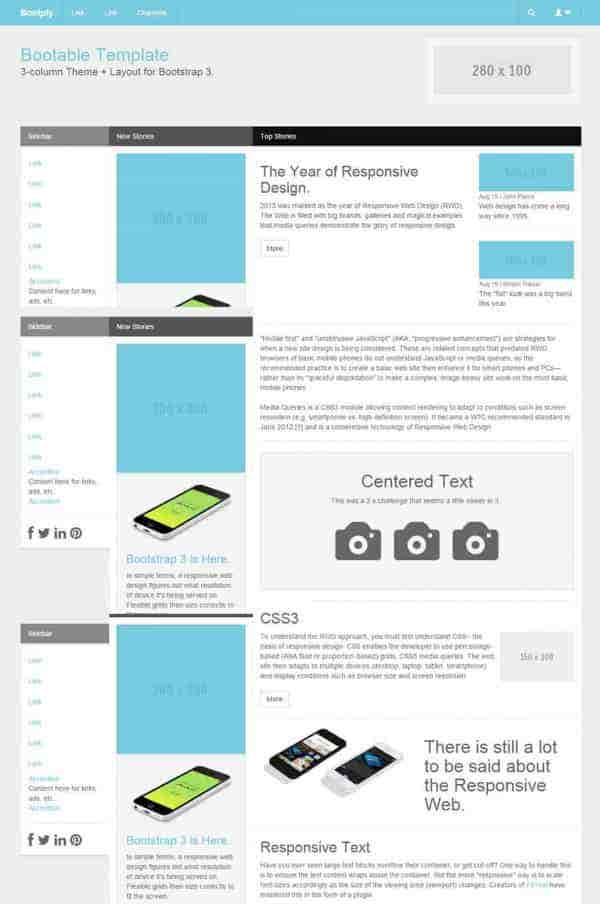 Free Bootable Bootstrap Template