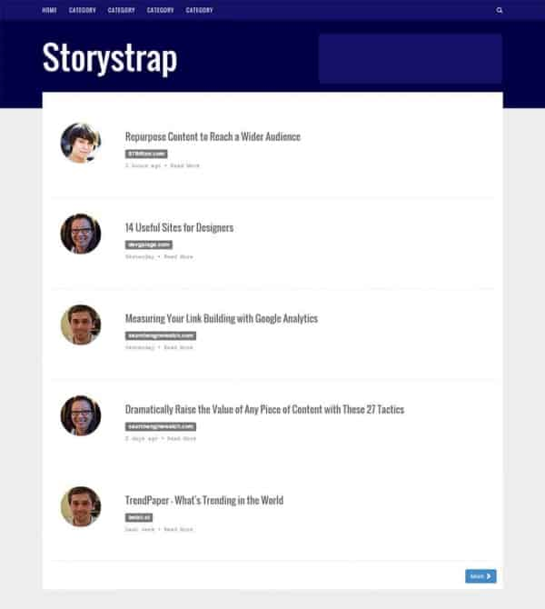 storystrap bootstrap template1