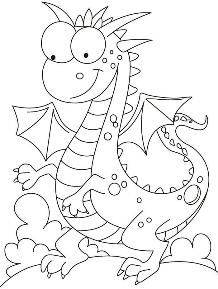 It's just a picture of Zany Dragon Template Printable