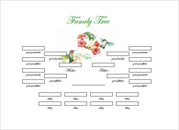 4 generations genogram free download