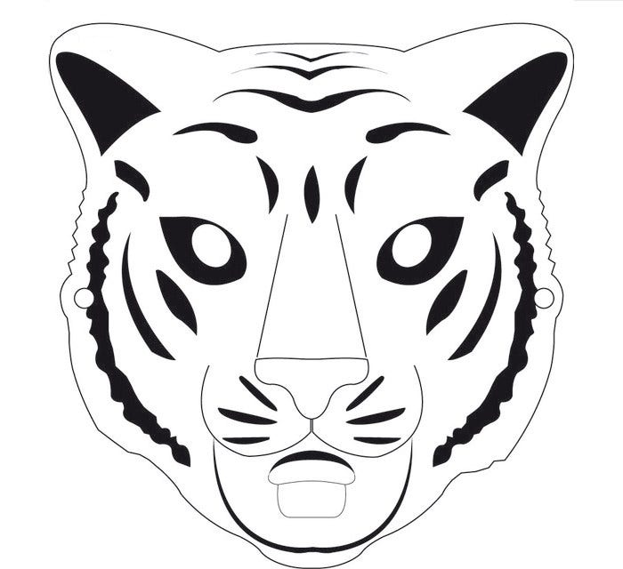 Agile image inside tiger mask printable