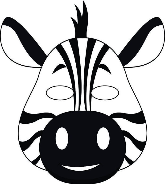Animal Mask Template on Cut Paste Goat