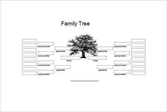 5 generation family genogram template word