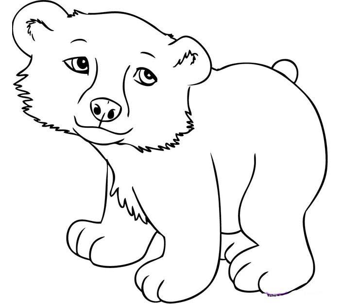 cute baby bear template - Animal Pictures To Print Free