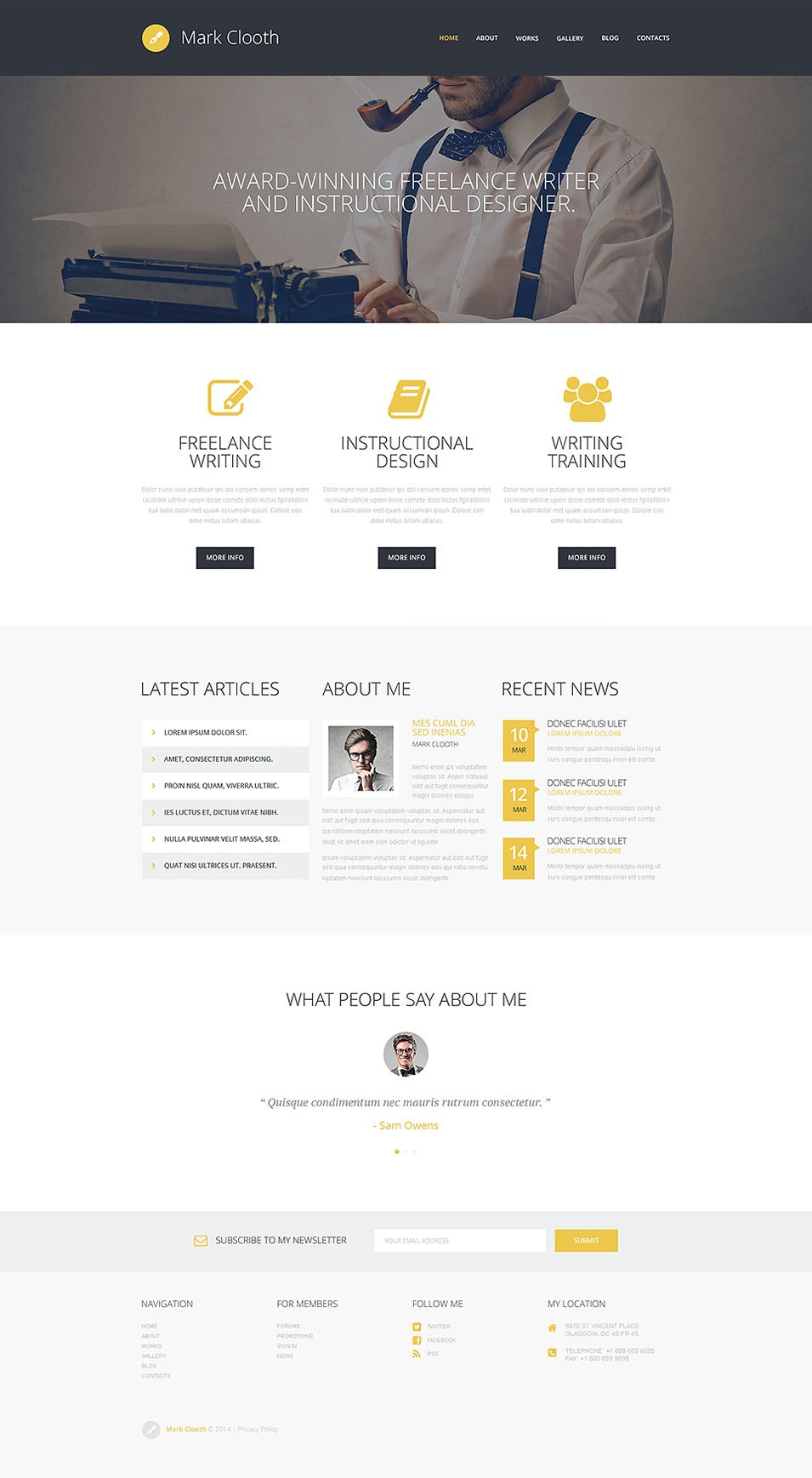 Online Presence of Freelancers WordPress Theme