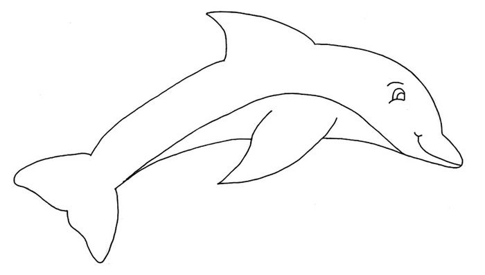 a dolphin leaping perfect coloring for kids