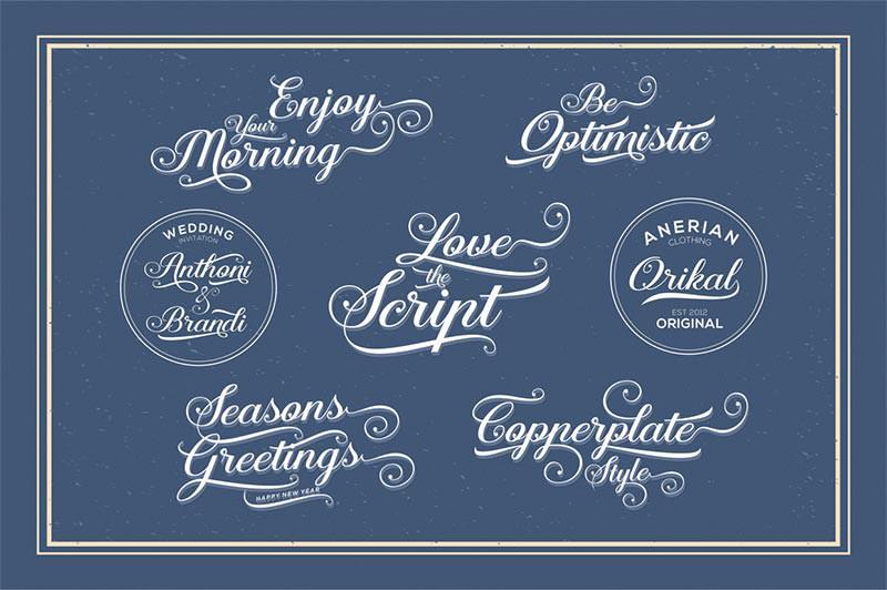 aaron wedding font