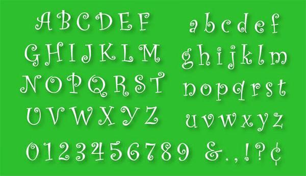 abc alphabet stencil