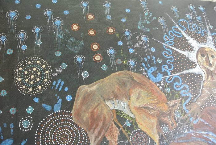 aboriginal mural painting