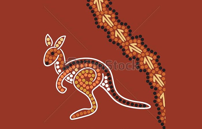aboriginal style background 2