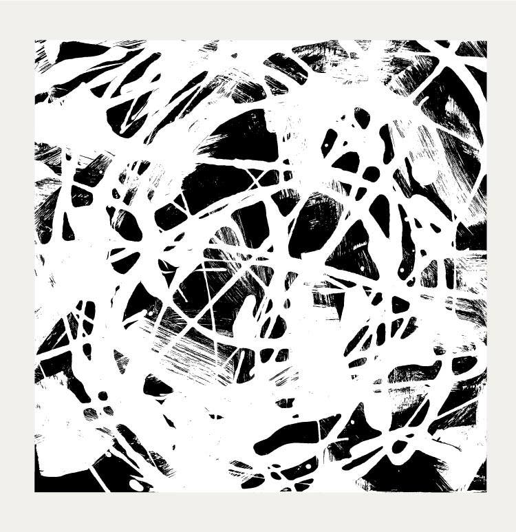 abstract paint pattern black white