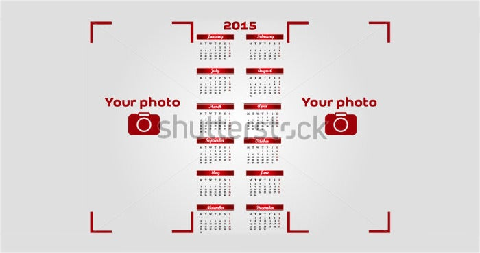abstract calendar 2015 year