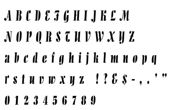 allegro alphabet stencil