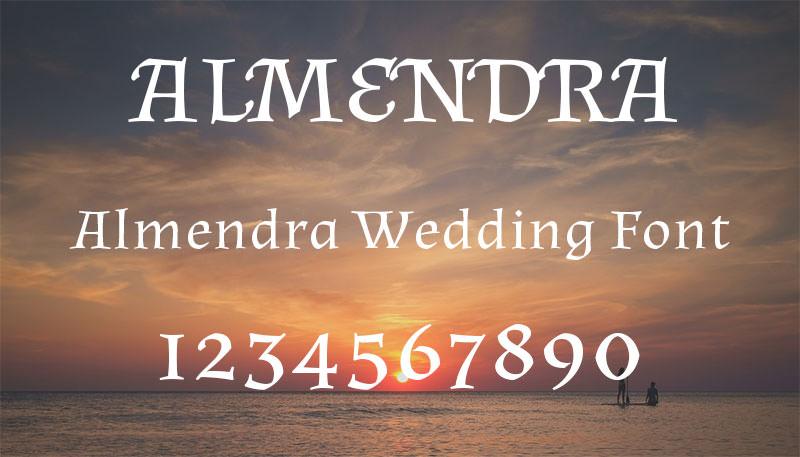 almendra wedding font